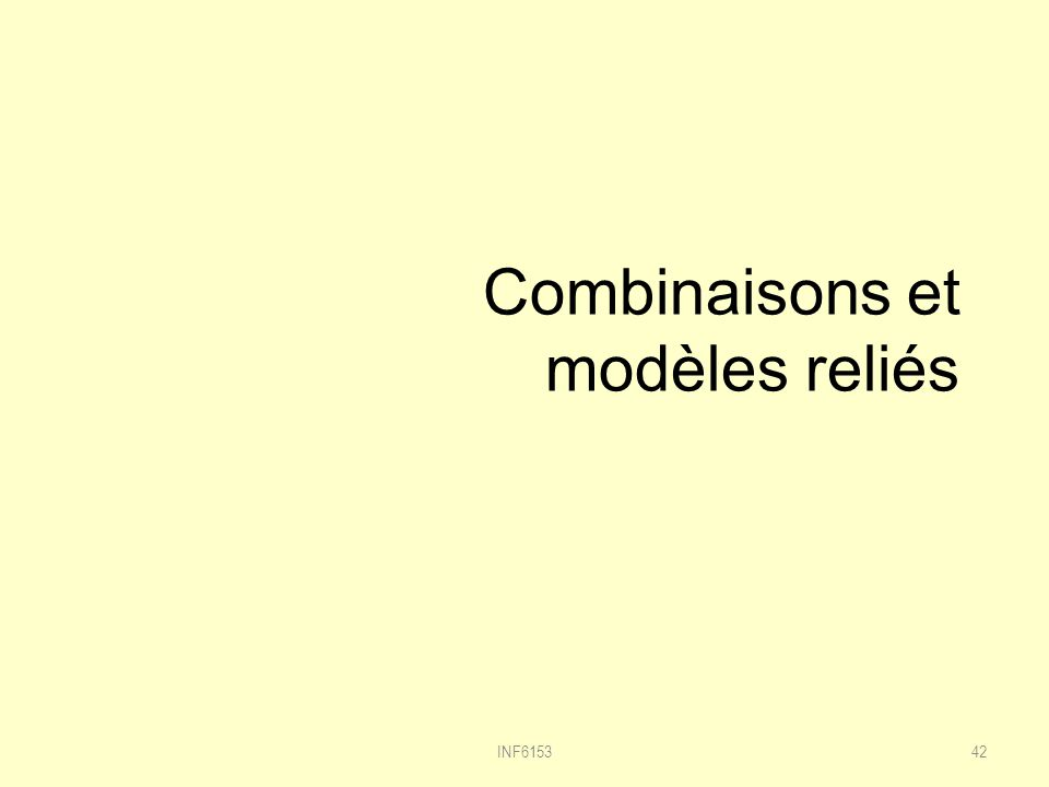 Combinaisons et modèles reliés INF615342