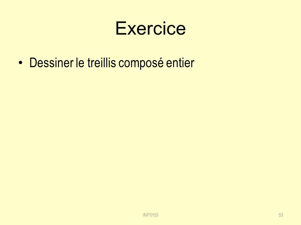 Exercice Dessiner le treillis composé entier 53INF6153
