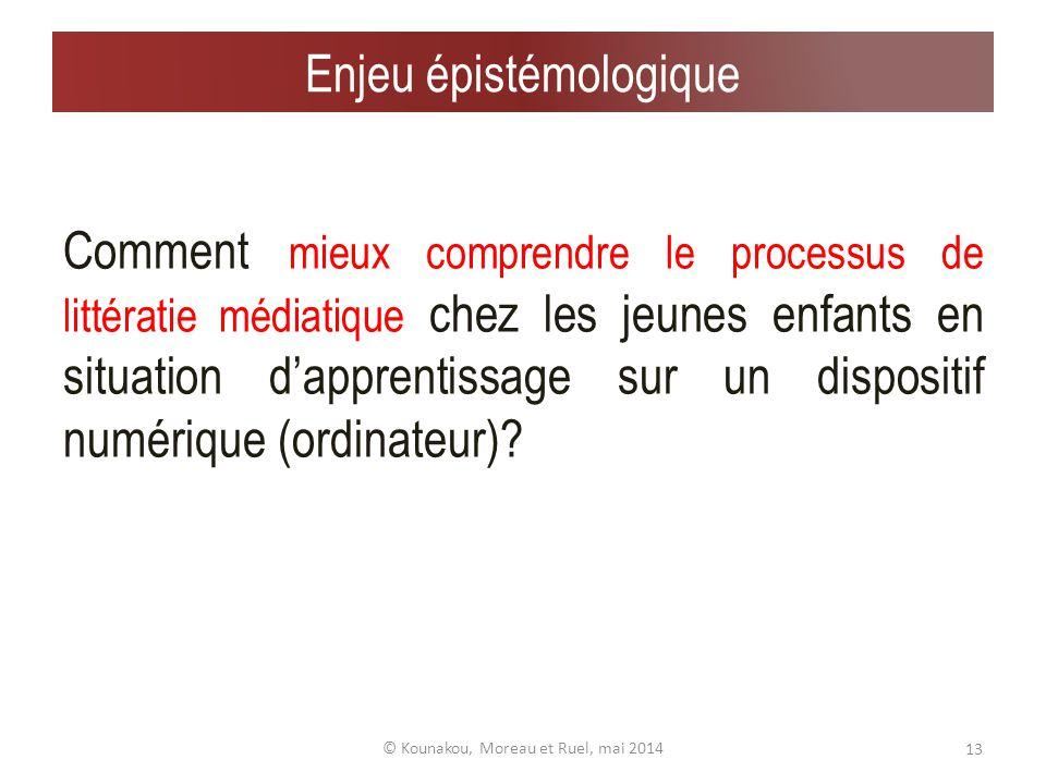 Processus de la littératie audiovisuelle chez lenfant 12© Kounakou, Moreau et Ruel, mai 2014