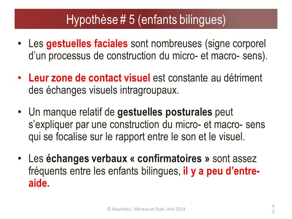 Extraits de gestuelles faciales © Kounakou, Moreau et Ruel, mai 201442