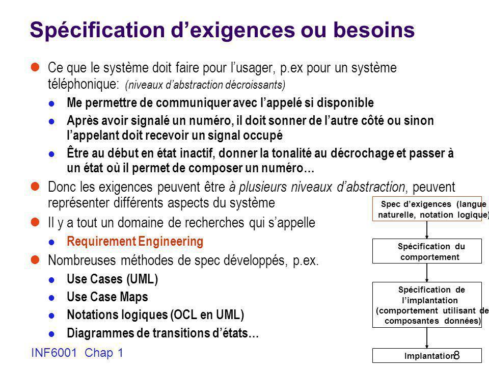 INF6001 Chap 1 59 Pourquoi segmentation, groupage, etc.
