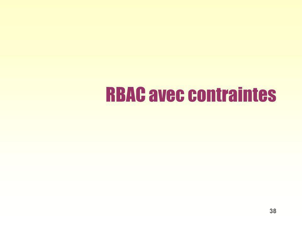 RBAC avec contraintes 38