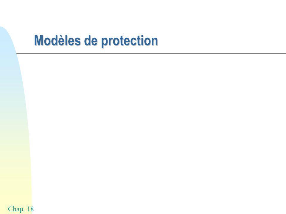 Chap. 18 Modèles de protection