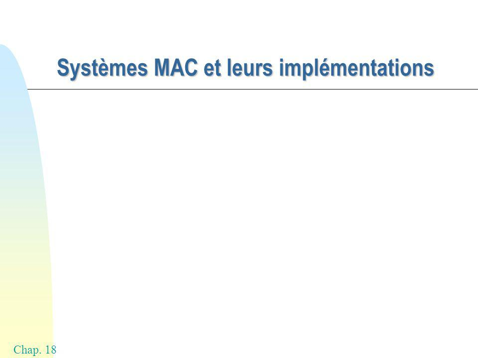 Chap. 18 Systèmes MAC et leurs implémentations