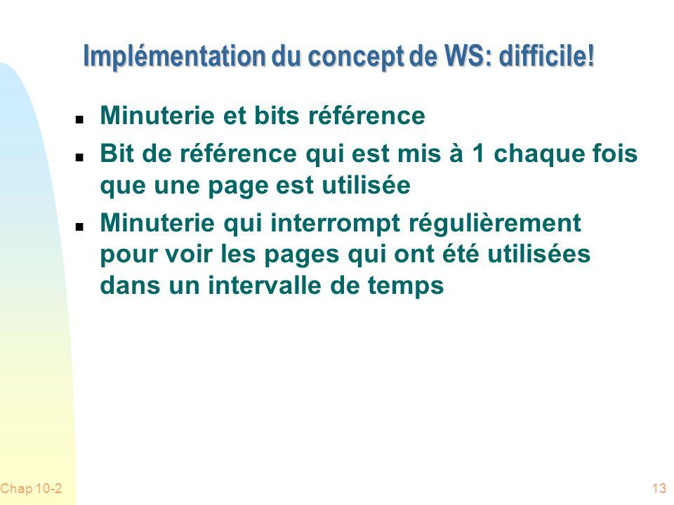 Chap 10-213 Implémentation du concept de WS: difficile.