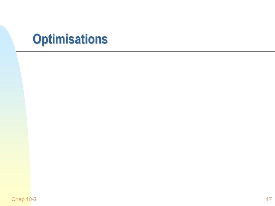 Optimisations Chap 10-217