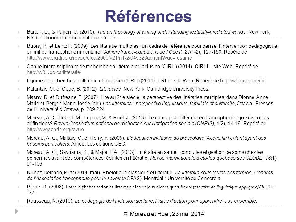 Références Barton, D., & Papen, U.(2010).