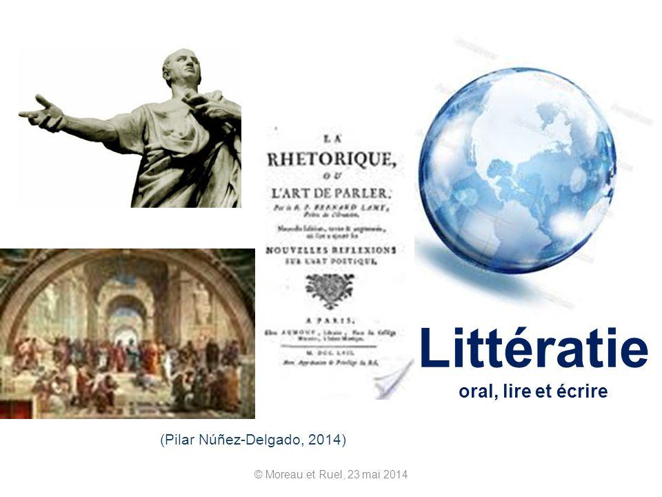 Littératie oral, lire et écrire © Moreau et Ruel, 23 mai 2014 (Pilar Núñez-Delgado, 2014)