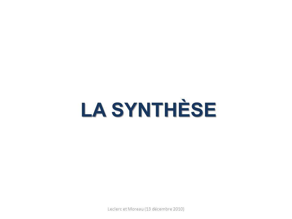 LA SYNTHÈSE Leclerc et Moreau (13 décembre 2010)