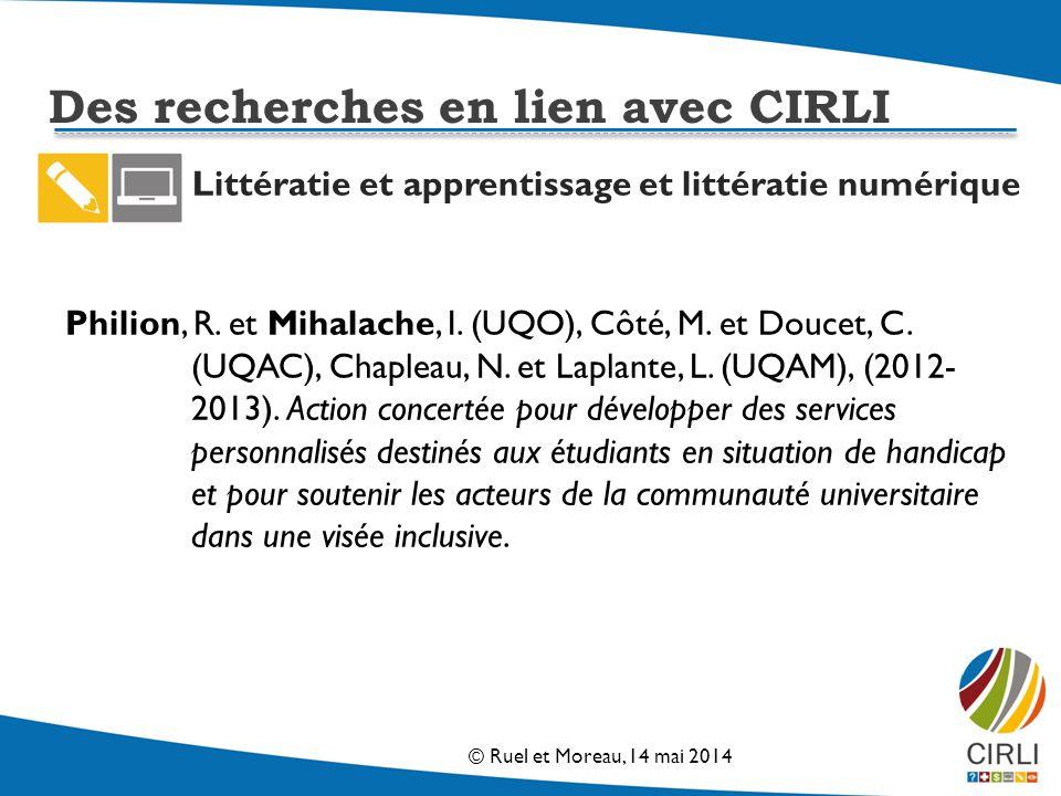 Littératie et apprentissage et littératie numérique Philion, R.