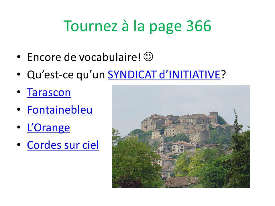 Tournez à la page 366 Encore de vocabulaire.