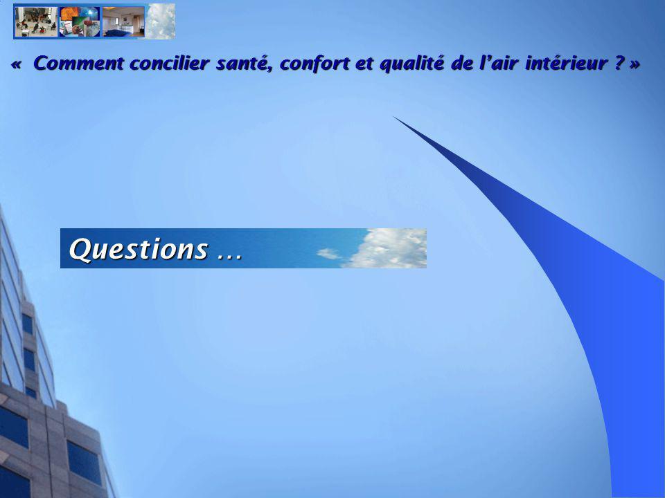Questions … « Comment concilier santé, confort et qualité de lair intérieur ? »