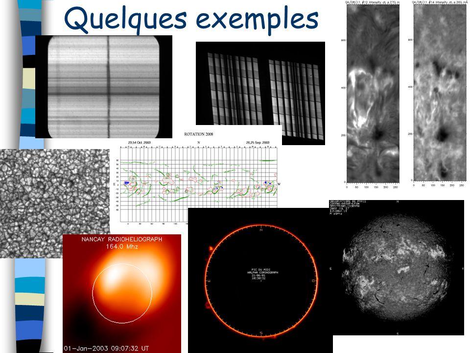 Diffusion de données A Meudon 100 Go de données Données en ligne Diffusion : public large (prof/amateur), env.