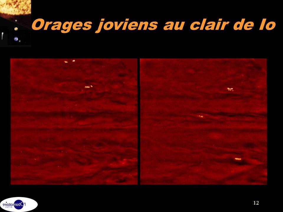 12 Orages joviens au clair de Io