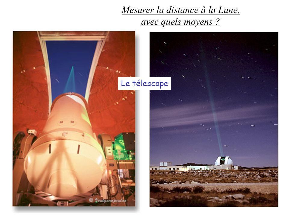 Mesurer la distance à la Lune, avec quels moyens ? Le télescope