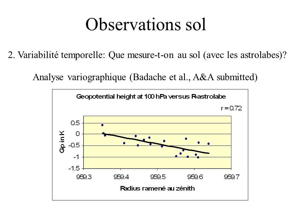 Observations sol 2. Variabilité temporelle: Que mesure-t-on au sol (avec les astrolabes)? Analyse variographique (Badache et al., A&A submitted)