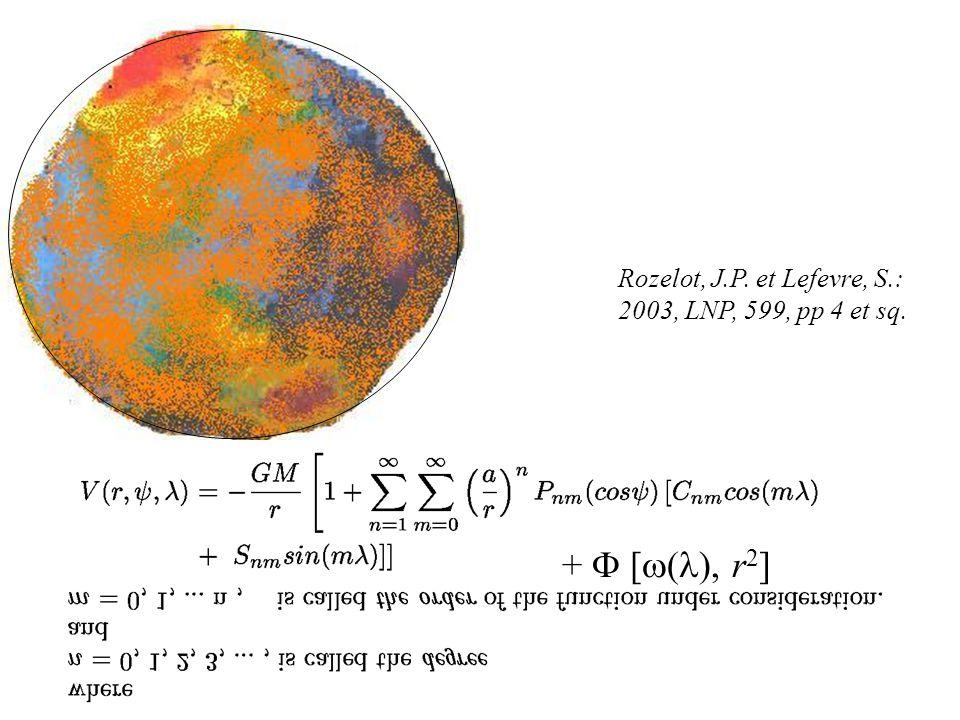 Rozelot, J.P. et Lefevre, S.: 2003, LNP, 599, pp 4 et sq. + [ ( ), r 2 ]