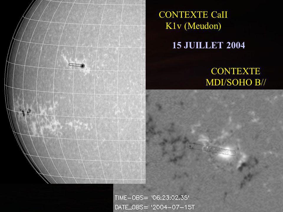 CONTEXTE MDI/SOHO B// CONTEXTE CaII K1v (Meudon) 15 JUILLET 2004
