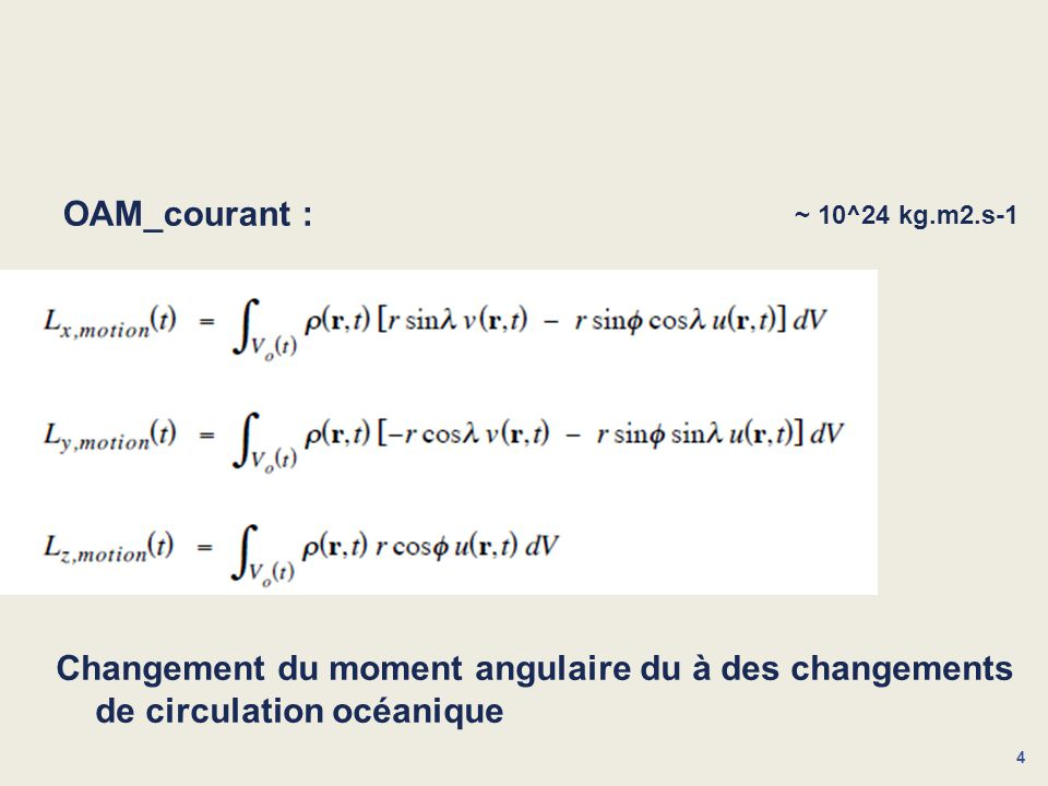 4 OAM_courant : Changement du moment angulaire du à des changements de circulation océanique ~ 10^24 kg.m2.s-1