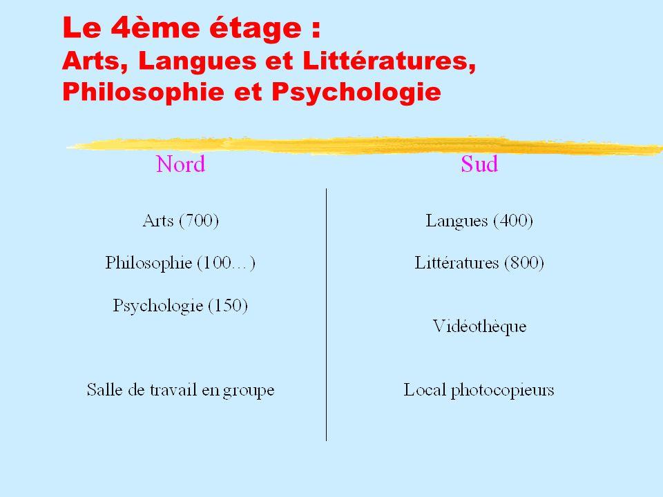 Le 4ème étage : Arts, Langues et Littératures, Philosophie et Psychologie