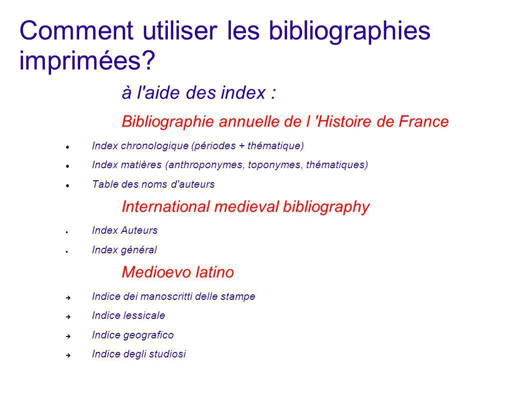 Bases informatisées de références bibliographiques de documents (articles de revues scientifiques, livres, thèses, etc...