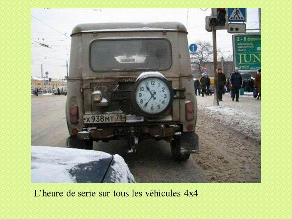 Lheure de serie sur tous les véhicules 4x4