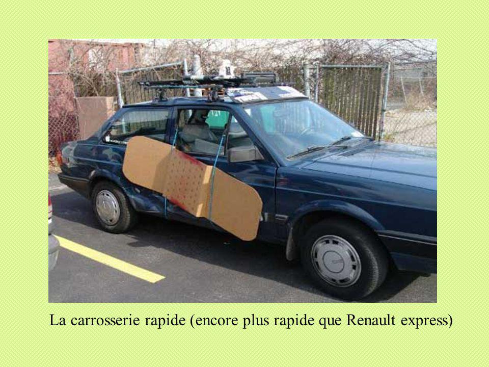La carrosserie rapide (encore plus rapide que Renault express)