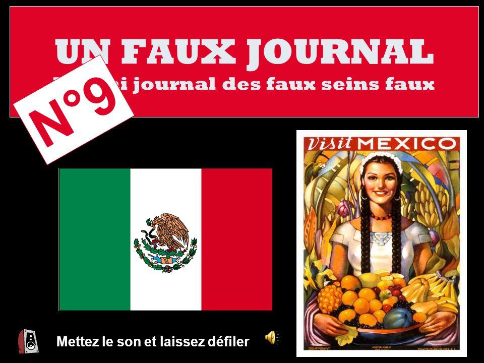 UN FAUX JOURNAL Le vrai journal des faux seins faux Mettez le son et laissez défiler N°9