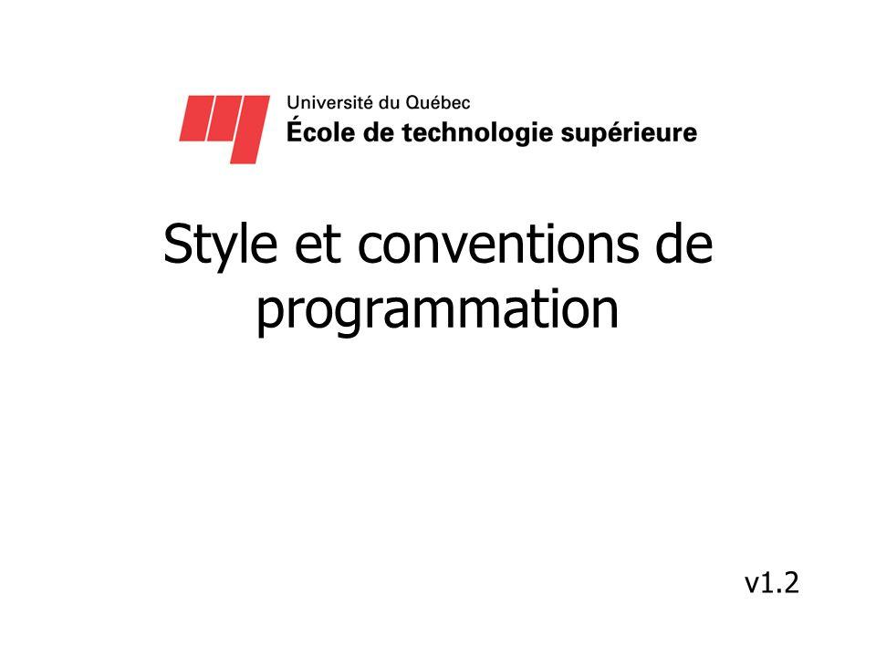 Style et conventions de programmation v1.2
