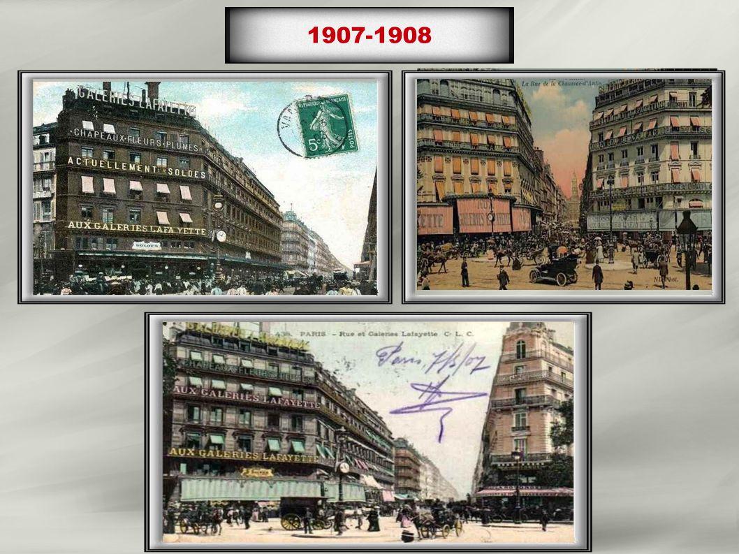 1957à1959 Surélévation de 2 étages du magasin Hausmann 1958 lancement de « la journée pas comme les autres » le 4 octobre, qui deviendra les « 3J »