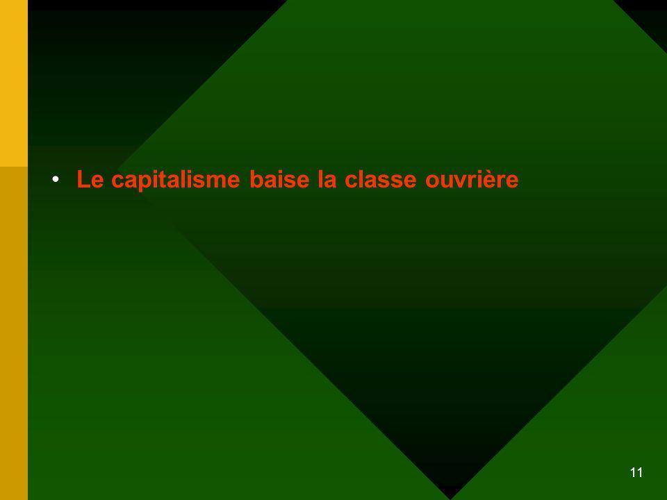 11 Le capitalisme baise la classe ouvrière