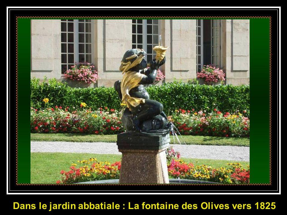 Le pavage, les bornes et les chaînes sont également classés. ………. Fontaine des Dauphins 1818 ……….