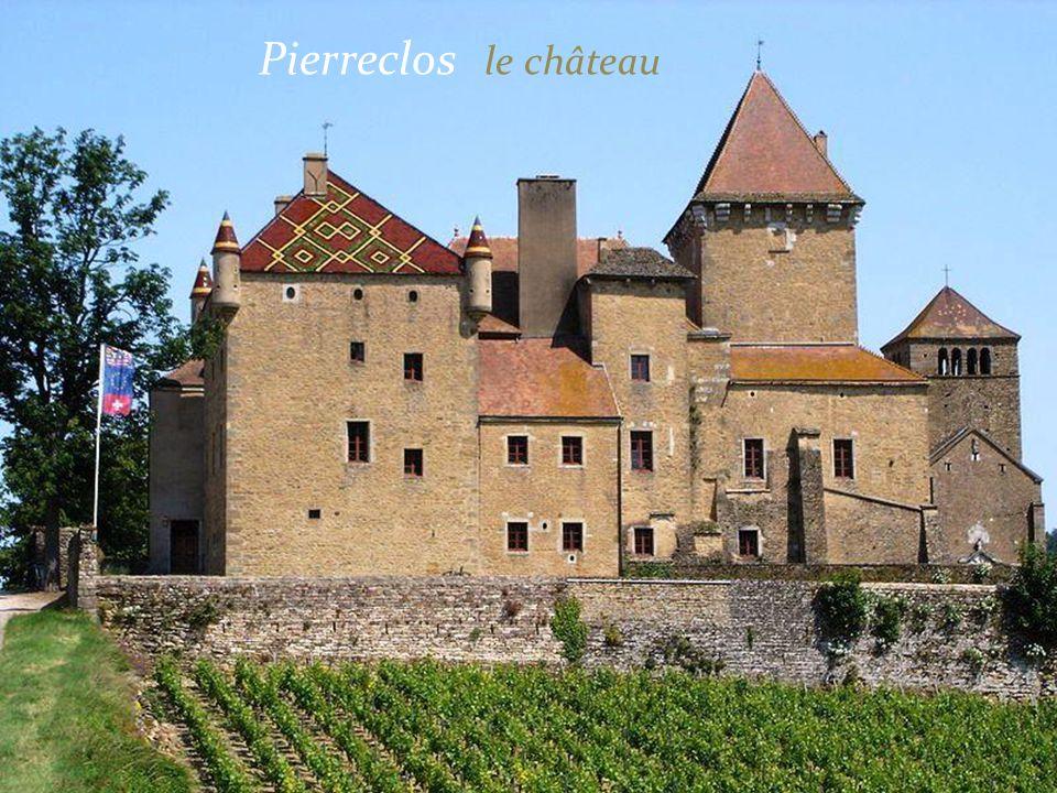 Romanèche-Thorins Le village et le vignoble Le château de la tour du XVe siècle