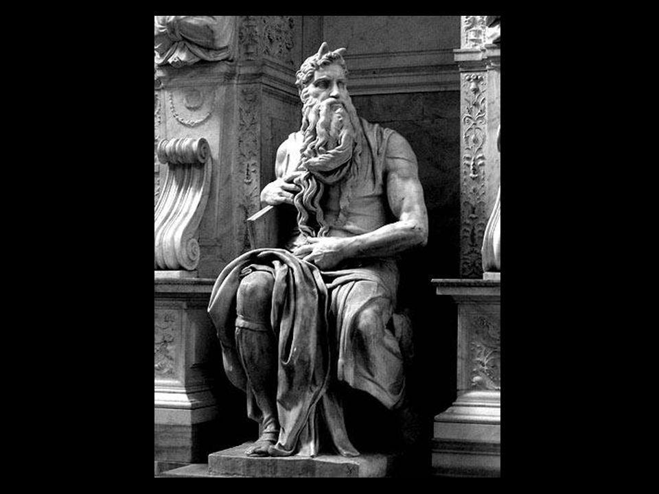 Ce Moïse ( créé de1513 à 1515 ), conçu au départ pour la tombe du pape Jules II (Basilique Saint Pierre de Rome puis église de San Pietro in Vincoli),