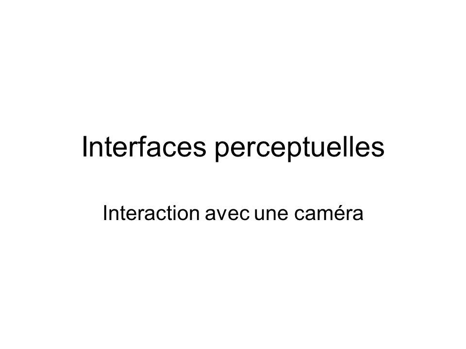 Interfaces perceptuelles Interaction avec une caméra