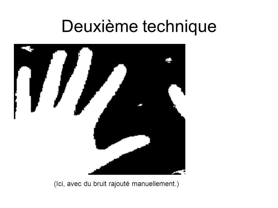 Deuxième technique (Ici, avec du bruit rajouté manuellement.)