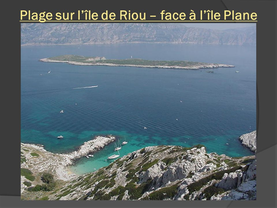 Massif de Marseilleveyre – vue de lîle de Riou et lîle Plane