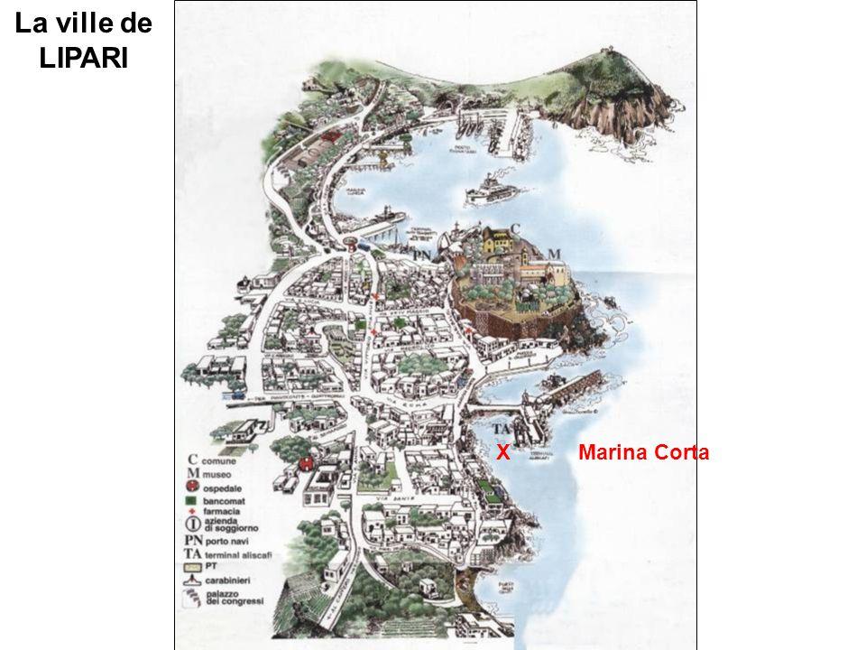 La ville de LIPARI XMarina Corta