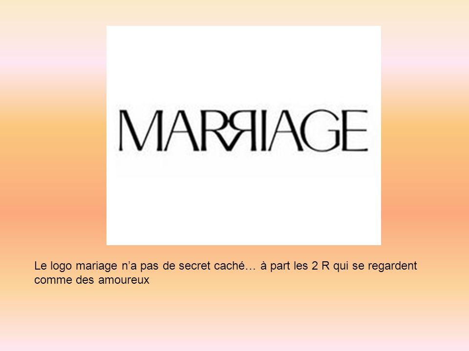 Le logo mariage na pas de secret caché… à part les 2 R qui se regardent comme des amoureux
