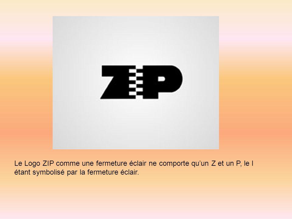 Le Logo ZIP comme une fermeture éclair ne comporte quun Z et un P, le I étant symbolisé par la fermeture éclair.