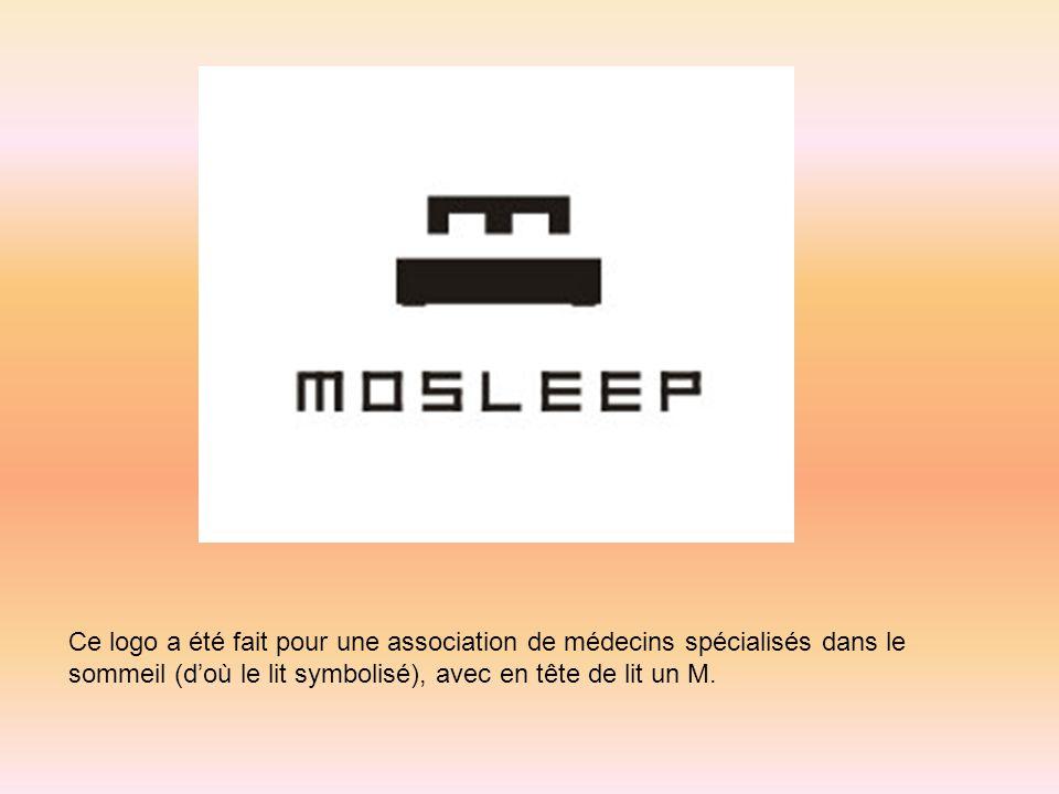 Ce logo a été fait pour une association de médecins spécialisés dans le sommeil (doù le lit symbolisé), avec en tête de lit un M.