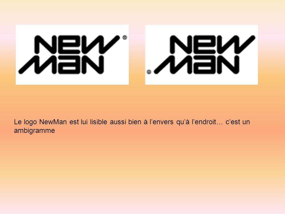 Le logo NewMan est lui lisible aussi bien à lenvers quà lendroit… cest un ambigramme