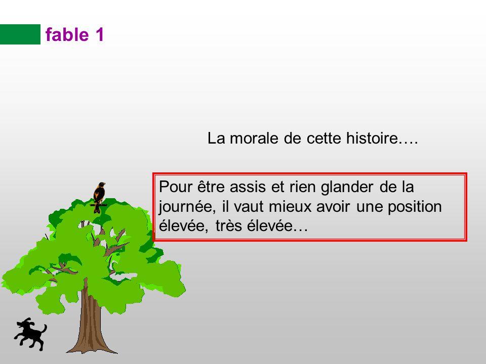 fable 1 La morale de cette histoire….