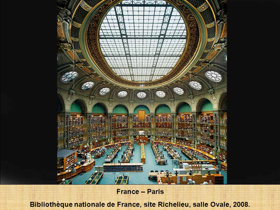 France – Paris Bibliothèque nationale de France, site Richelieu, salle Labrouste, 2008.