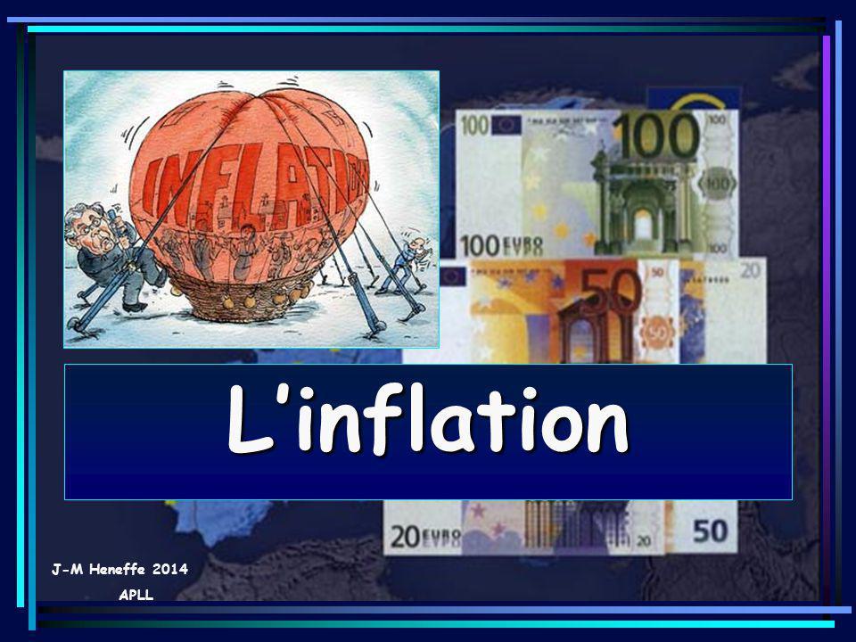 07/06/201412 2.Linflation proprement dite ou inflation déclarée Linflation et ses remèdes Linflation se caractérise alors par une hausse sensible des prix et a tendance à être auto- entretenue, linflation est freinée par la politique monétaire et des mesures de contrôle des prix et des salaires.