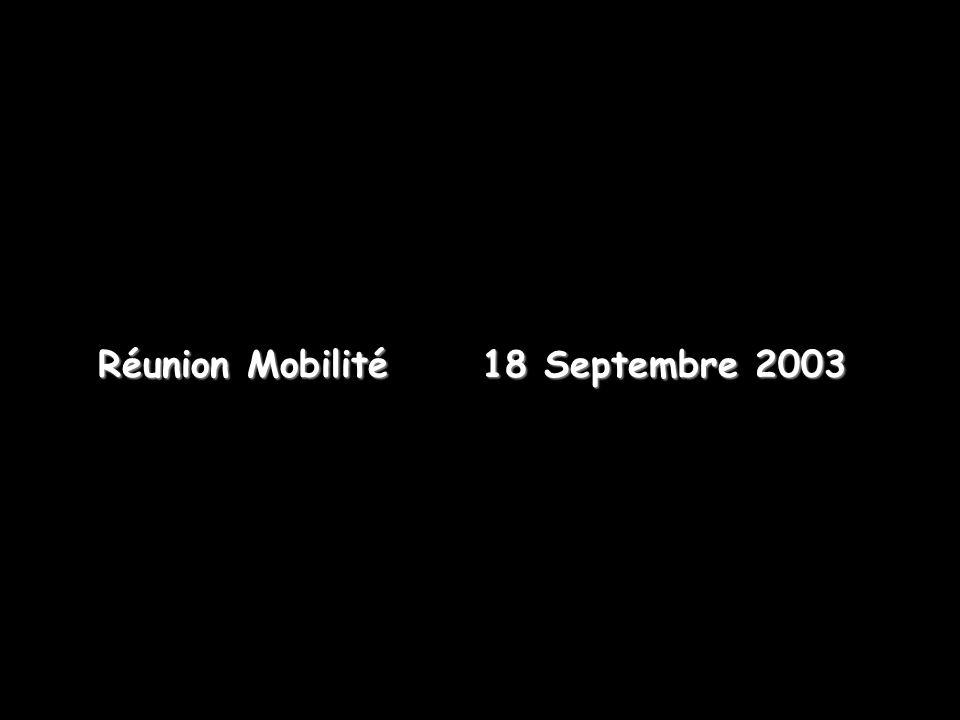 Réunion Mobilité 18 Septembre 2003