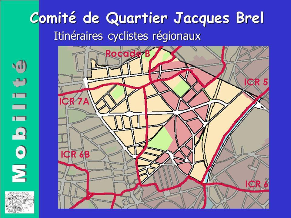 Comité de Quartier Jacques Brel Itinéraires cyclistes régionaux