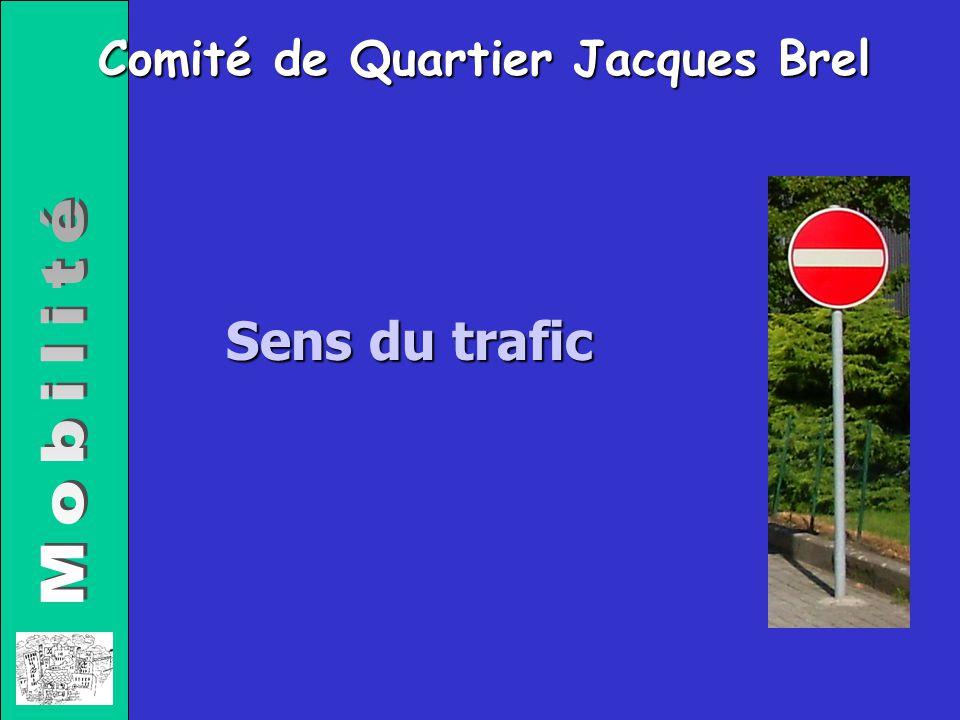 Comité de Quartier Jacques Brel Sens du trafic