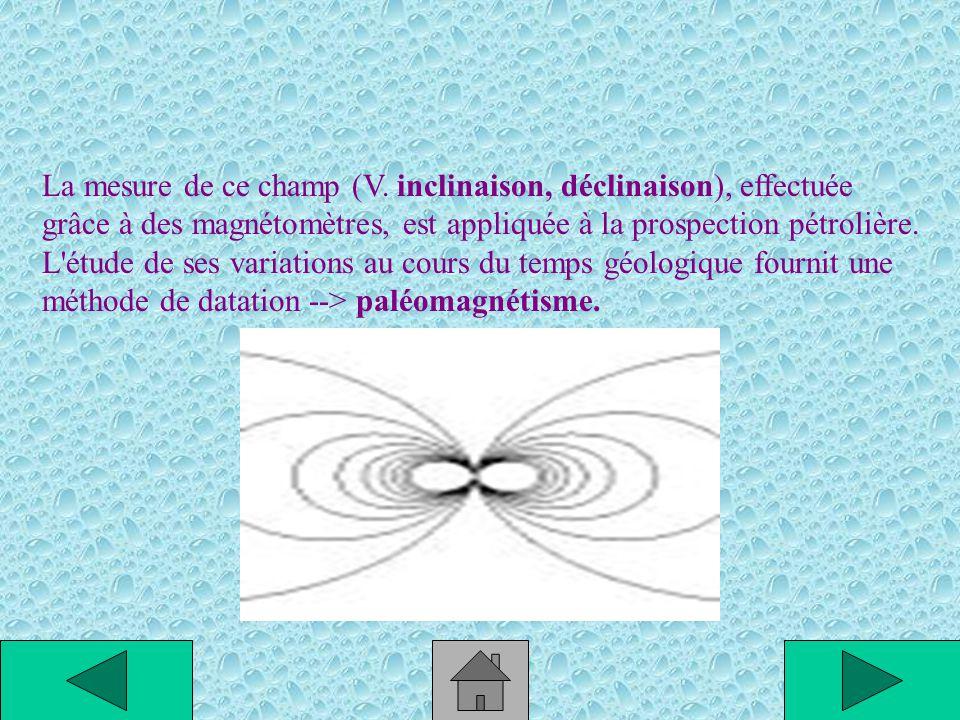 Le champ magnétique terrestre, qui dans l'hémisphère nord oriente l'aiguille des boussoles en direction du pôle Sud magnétique, intervient dans des ph