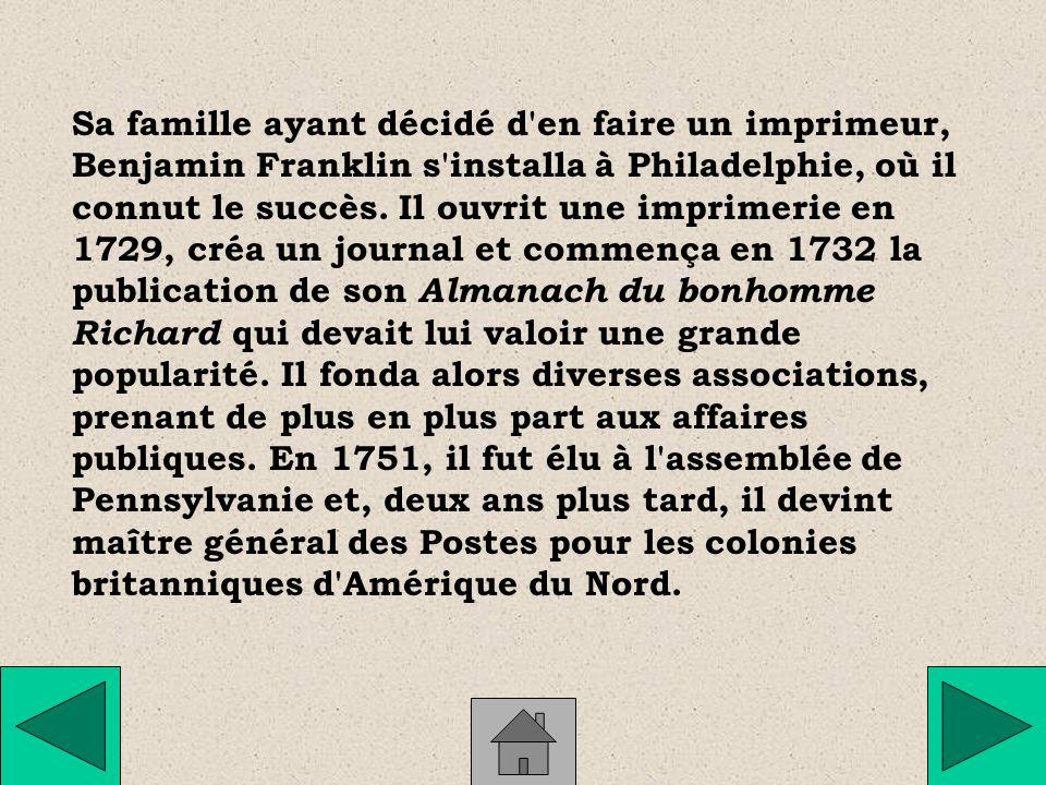 Physicien, écrivain et homme politique américain (Boston, 1706 Philadelphie, 1790).